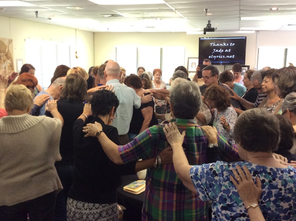 We prayed for Mary Manrique, who was scheduled for knee surgery in the coming week. (Image credit: Ellen Kalenberg)