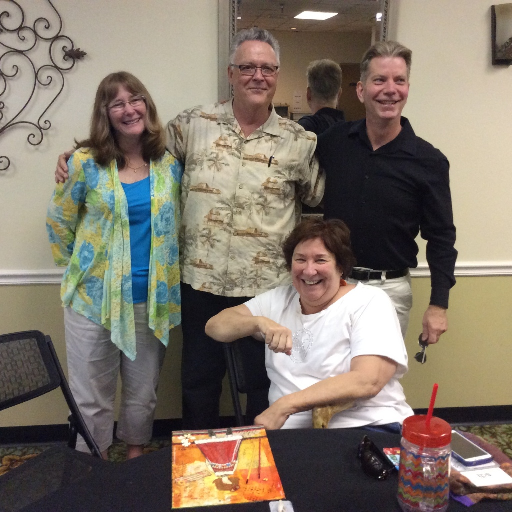 Our retreat leaders — Linda Beauregard, Tim Arsenault, Mary Manrique, and David Liedl — exuded joy and presence to the truth of our broken roads. (Image credit: Ellen Kalenberg)