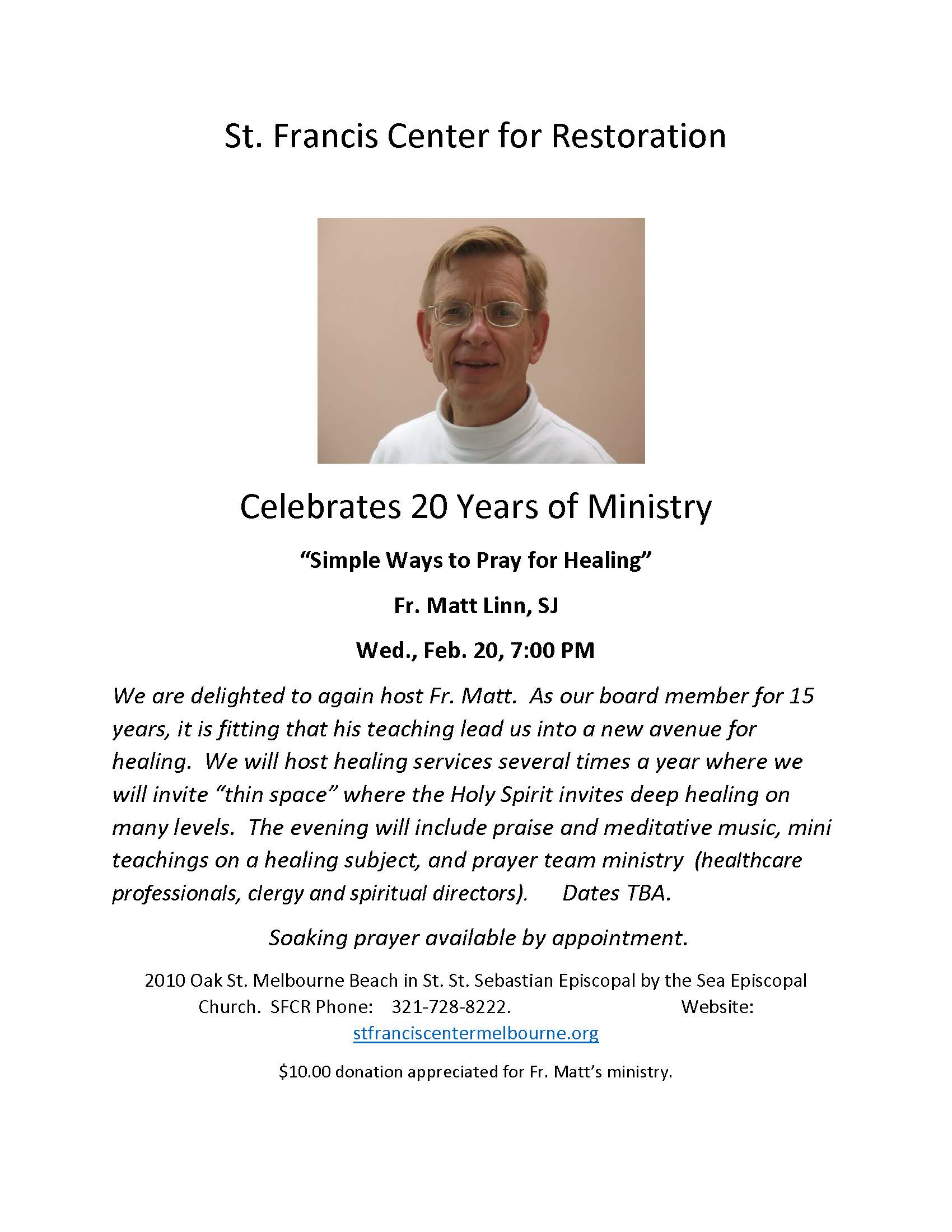 Feb 20 Fr. Matt Linn, SJ Event